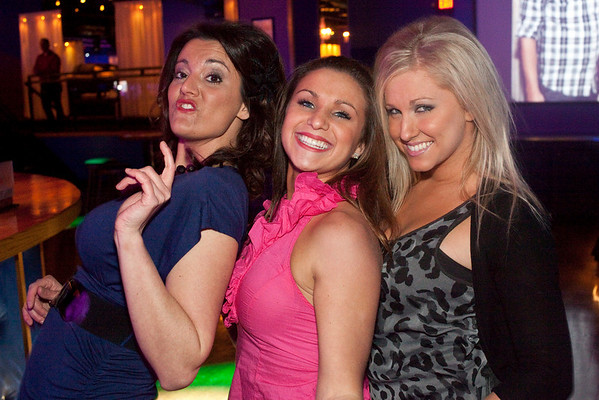 Tara Reek, Shaina Reek and Sam Begley get down on the dance floor.