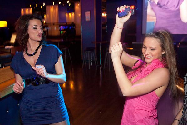 Dancing breaks out anywhere in Hotel Nightclub.