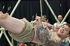 The Human Suspension Show by Only Flesh captivated the crowds at the Immersed in Ink Festival.