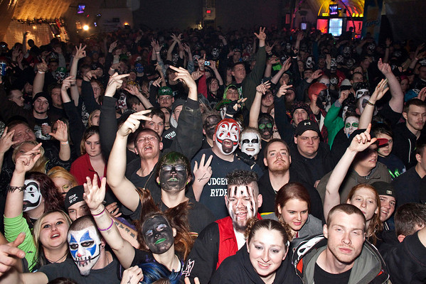 Juggalos united at Expo Five as Insane Clown Posse made a stop in Louisville Friday night.