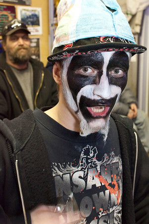 """He calls himself """"2Sick"""" when in the face paint."""