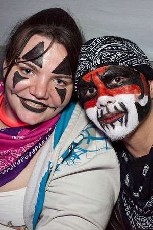 Brittany Maddox and David Padilla share some Juggalo love.