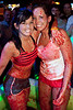 Sammi Magruder and Kayla Humfleet engage in Jell-o Wrestling for an enthusiastic crowd at Sports and Social Club on Friday night.