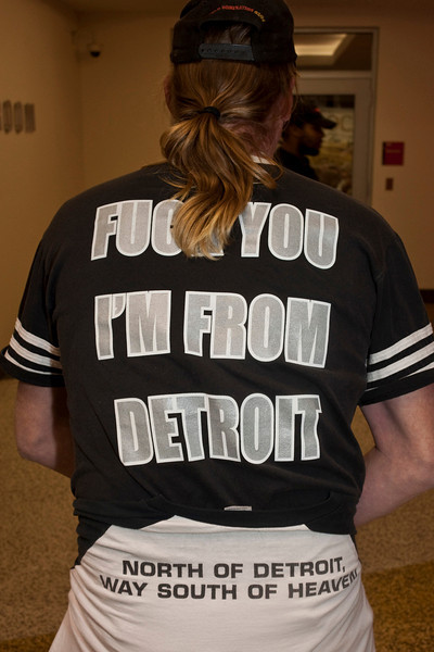 Apparently this man is from Detroit (home of Robocop if I remember my Motor City history.)