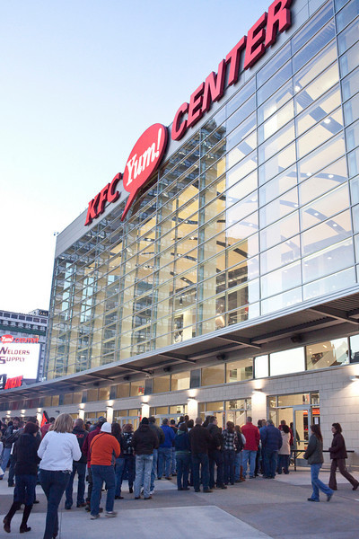 The crowds arrived early at the Yum! Center on Friday night as Kid Rock entertained a capacity crowd.