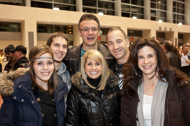 Alyssa Bradberry, Greg Zollman, Shelli Thome, Fred Thome, Greg Stump, and Sharon Stump survived the long wait at Will Call.