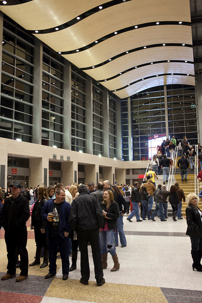 The crowds grew and so did the buzz in the air as showtime at the Yum! Center neared.