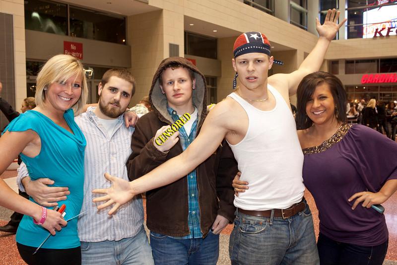 Elena Smith, Matthew Halloway, Kyle Nichols, Chris Nichols, and Autumn Miller were ready for some action.