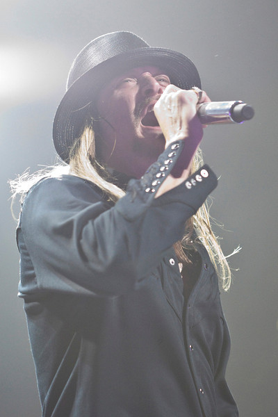 Detroit-based Kid Rock brought his high energy style to an eager crowd on Friday night.