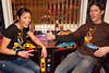 Zanzabar owner Antz Wettig joins Doris Kim at the recently installed two-person tabletop Joust.