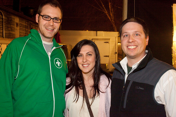 Casey Wagner, Katie Ridenour, and Chad Dobbins brought their smiles.