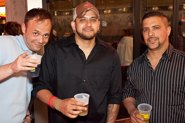 Phil Bohn, Salvador Quinones, and Will Santiago know how to party.