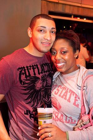 Carlito Rodriquez and Ashley Jackson grab the photo opp.
