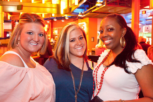 Ranesha Ligon (far right) celebrates her birthday with pals Carrie Boone and Sarah Williams.