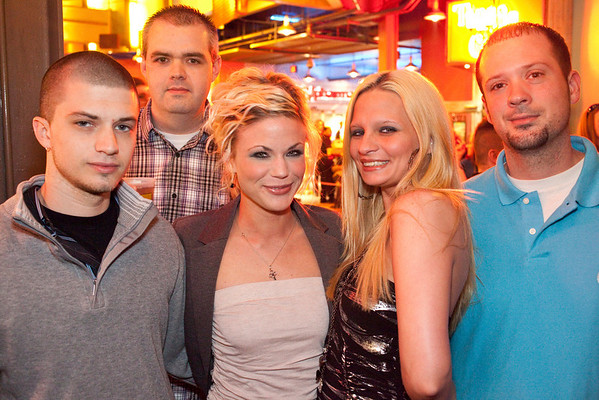 Shawn McGoff (far left) celebrates his birthday with Samuel White, Ashley McGoff, Gabrielle Hooper, and James Graham.