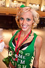 Amelia Cupp sports the green for Tengo Sed Cantina's Lucky Charm Celebration.