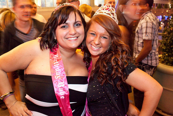 Birthday girls Nancy Shaw and Abbie Coomes are Piscean sisters.