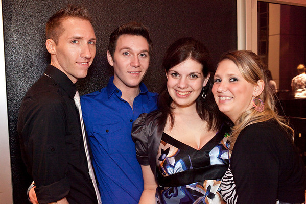 Robert J. Smith, Nicholas Westerfield, Paige Richards, and Amber Roberts here hanging out at Angels Rock Bar.