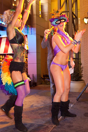 The costume contest was a colorful, scantily clad affair.