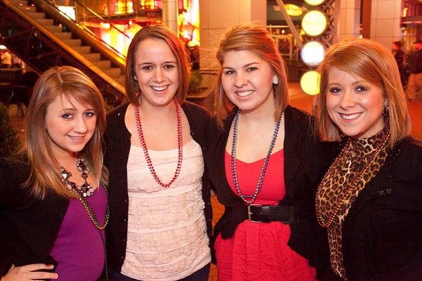 Ashley Fielder, Sarah Nehring, Jessica Smith, and Erica Fritsch came to party.