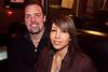 Jon Lasky and Raquel Moran enjoy a quiet booth together.