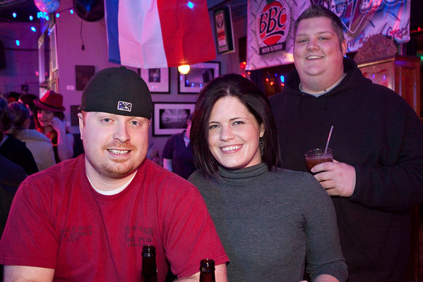 Scott Stewart, Marina Dattilo, and Brad Wood take in the sights and sounds of the Monkey Wrench.