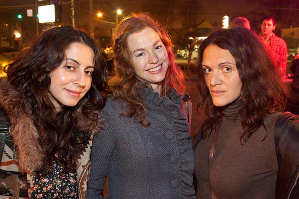 Natasha Sud, Christa Britton and Courtenay Kunneckel enjoy some fresh air.