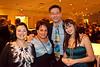 Professional dancer Juanita Araque (far right) had a few admirers in the crowd.