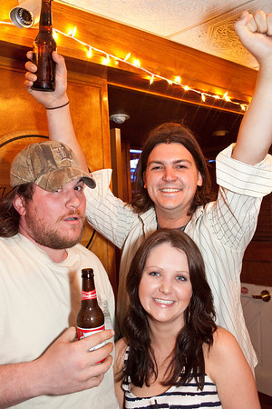 Chad Cox, Tommy DeWitt, and Rachel Way know how to party.