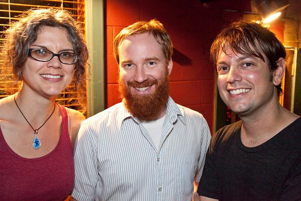 Adrianne M. Blau, Dave Howard, and Chuck Sharp were having a good time.