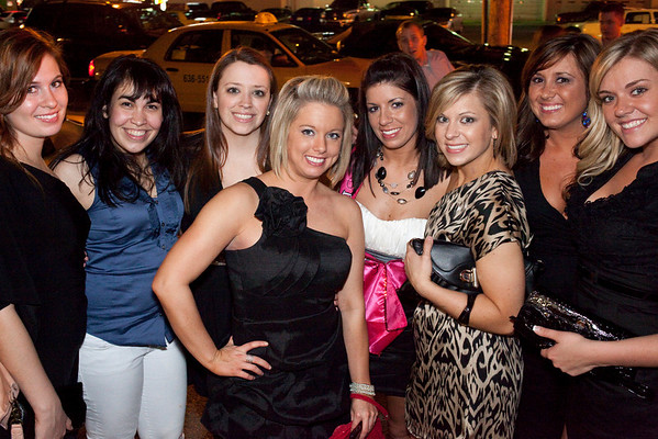 Bachelorette Party on the prowl! This one is for Katheryn Barker (pink sash in the mddle.)