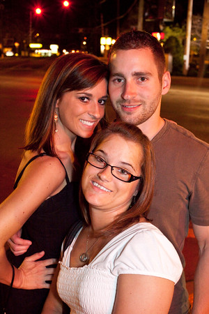 Amanda Mingus, Ashlee Young, and Nic Bush remembered to look both ways before crossing Shelbyville Road.