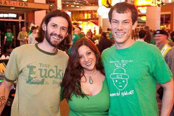Tyler McKinley, Deena McKinnley, and Craig Miller keep the party going.