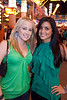 Amber Cannon and Ashley Hawkins prefer varying shades of green.