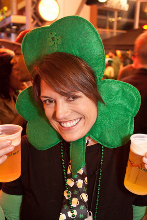 Jodie Cox was a magical, double-fisting shamrock during the St. Patrick's Day Party at Fourth Street Live.