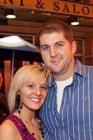 J. Broughton flashes his Elvis half-smile for Heather Pickhart.