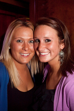 Becky Porter and Becca Bauer go cheek-to-cheek.