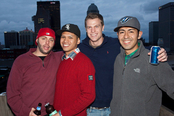 Brady Miller, Josue Chan, Lincoln Fields and William Meza enjoy the moment.