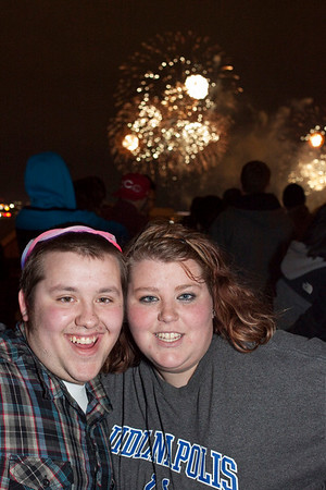 Kyle and Kayla Hawkins were living in the moment.