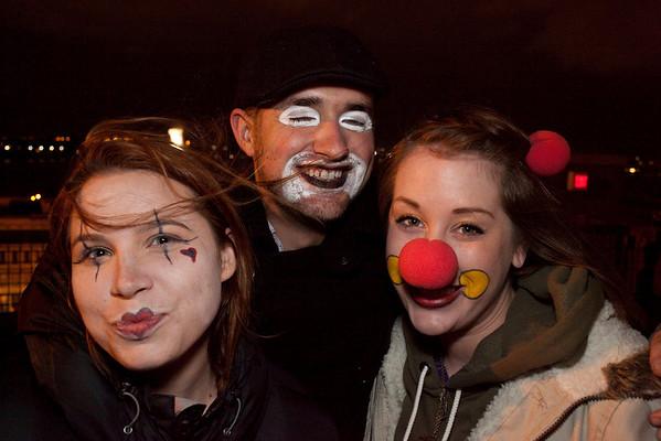 Melanie Knight, Michael Ryan Bretz, and Rae Ivie of Nashville did some clowning around.