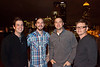 Chuck Sharp, Aaron Bibelhauser, Adam Bibelhauser, and Tavis Conley are members of the event's featured band Relic.