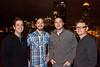 Chuck Sharp, Aaron Bibelhauser, Adam Bibelhauser, and Tavis Conley are members of the event's featured band Relic.