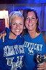 Tracy Bugg and Laura Heinzen were basking in the blue.