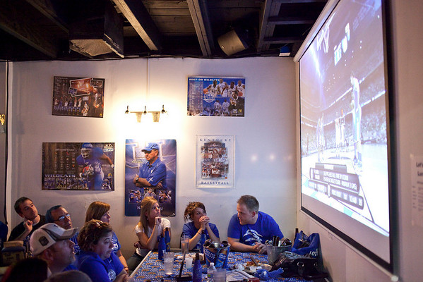 UK fans gathered where they could in tightly packed Big Blue Country.