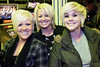 The trifecta of blondedom: Caryn Burroughs, Ashley Durden, and Samantha Burroughs were aglow in arcade light.
