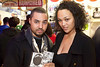 """DJ Mevel from """"Scratch: Best of the Bottom"""" joins the lovely B.B. Queen for a quick shot."""