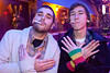 Cody Travelstead and Bahb Phillis flash the universal Wu Tang sign.
