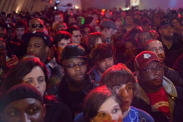 An assortment of facial expressions littered the packed house at Expo Five as anticipation grew for Wu Tang.