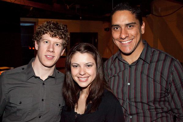 Jack Wesson, Carolina Ramos, and David Prada were hanging at the bar.