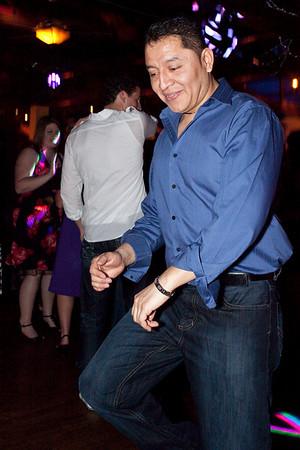 Armando Villalobos shows off his moves on the dance floor.